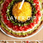 7 layer dip collage image