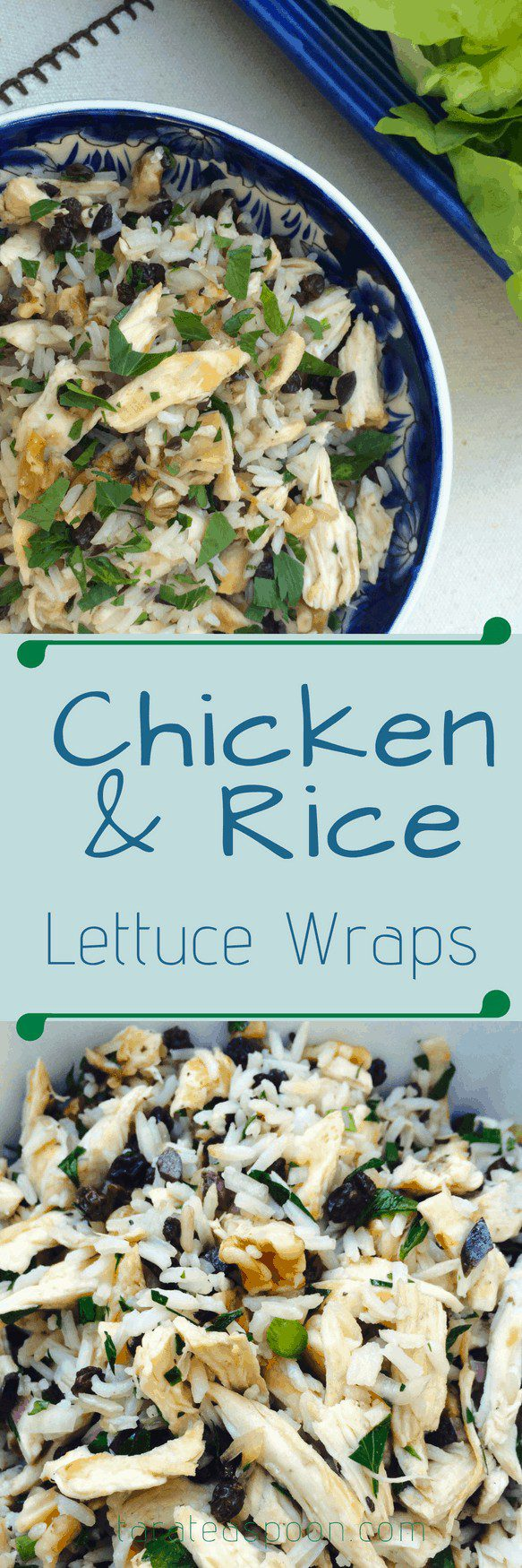 Chicken and Rice lettuce wraps pin