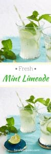 glasses of mint limeade pin