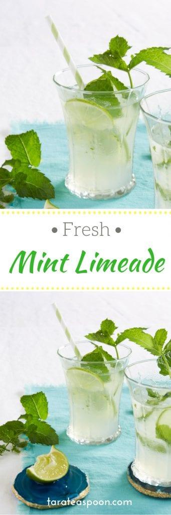 glasses of mint limeade pin