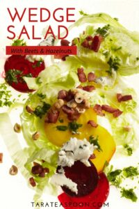 lettuce salad with beets text overlay