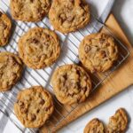 The best chocolate chip cookies in the world with a towel