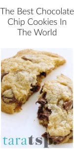 Pinterest image for The Best Chocolate Chip Cookies with text