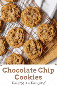 The best chocolate chip cookies pin image