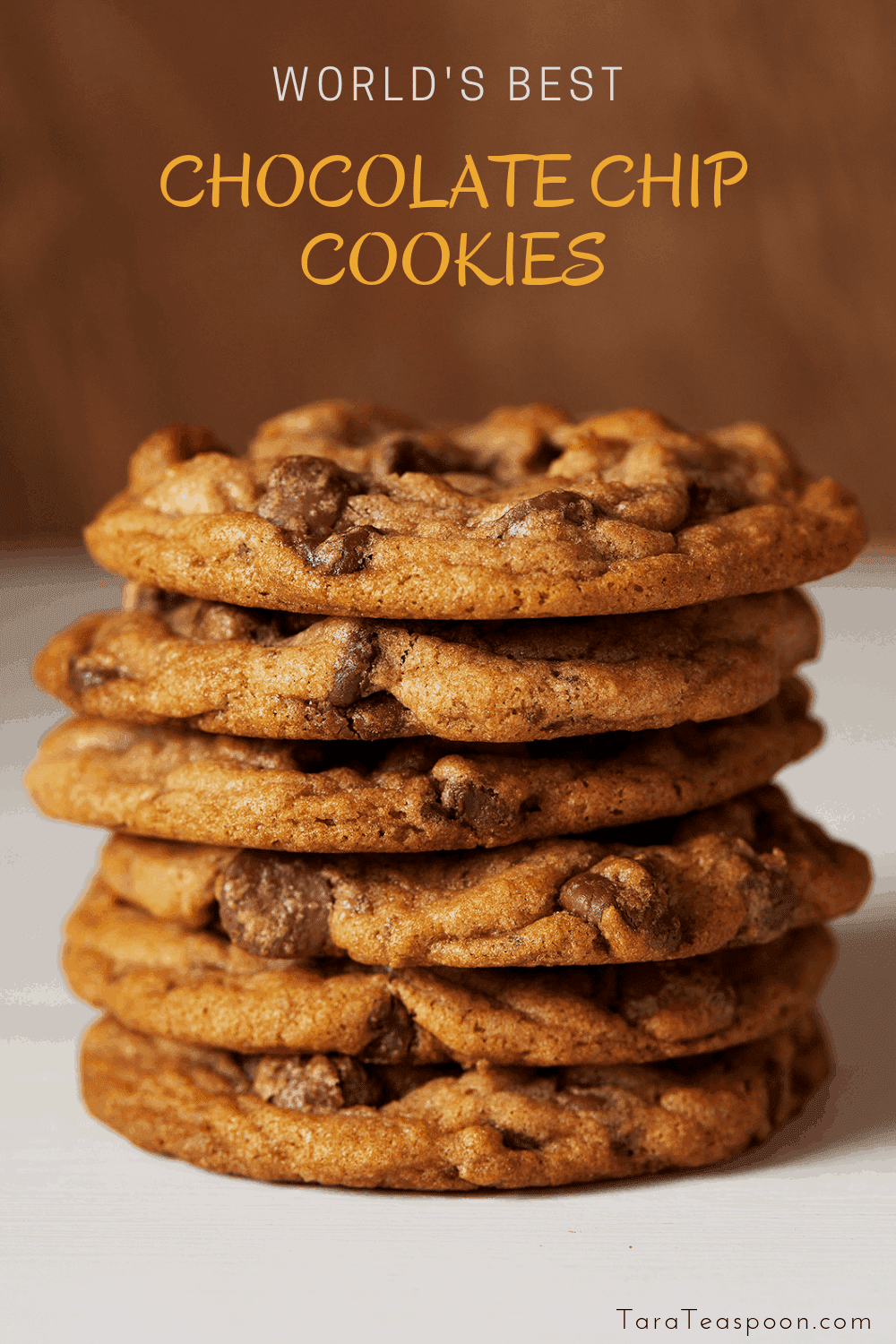 Stack of best chocolate chip cookies