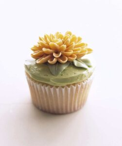 Meringue Buttercream Flower Cupcake