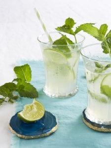 Tara Teaspoon mint limeade in cold glasses