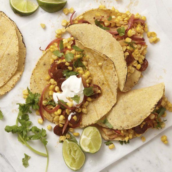 Corn Chorizo Tacos + Prep Tip