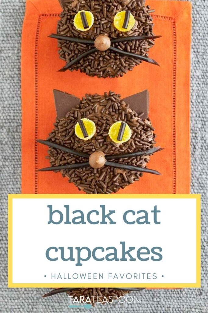 Black Cat Cupcake Pinterest pin