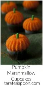 Pinterest image for Pumpkin Marshmallow Cupcakes with text