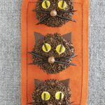Black Cat Chocolate Cupcakes with Chocolate Frosting