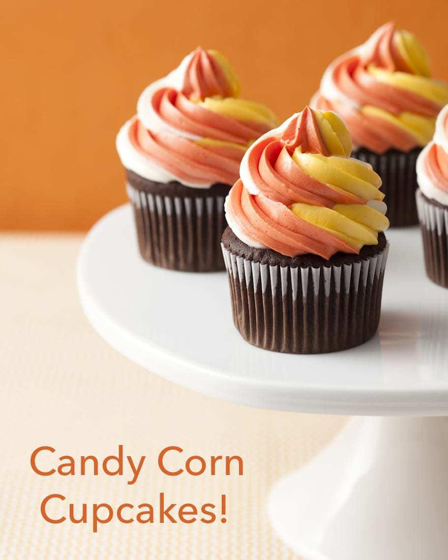 Candy Corn Swirl Cupcakes