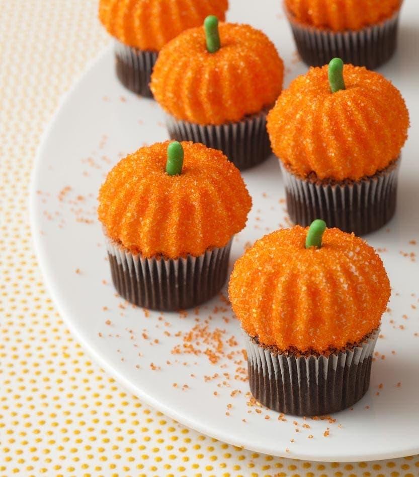 Pumpkin Marshmallow Cupcakes