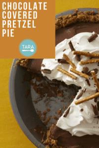 Chocolate covered pretzel pie missing slice pin