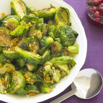 Brussel Sprouts with Apricot and Pistachios