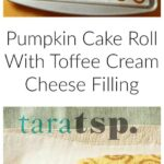 Pinterest image for Pumpkin Cake Roll with text