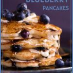 whole wheat blueberry pancakes pin
