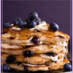 Blueberry pancakes pin