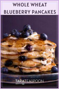 Blueberry pancakes pin