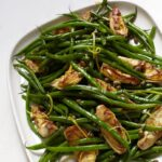 Platter of Green Beans with Artichokes and Capers