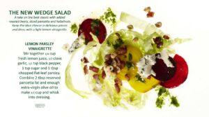 Wedge Salad recipe image with text