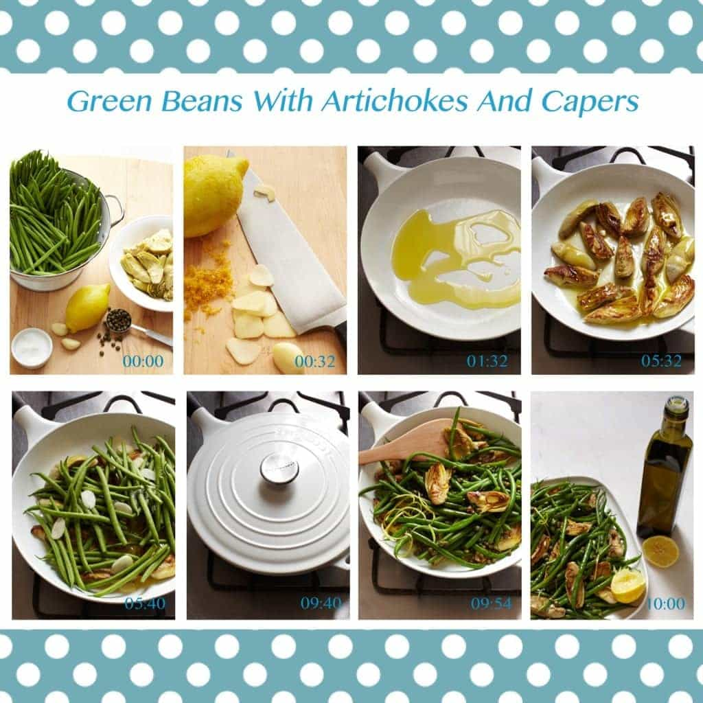 Green Beans With Artichokes And Capers-Pin it!