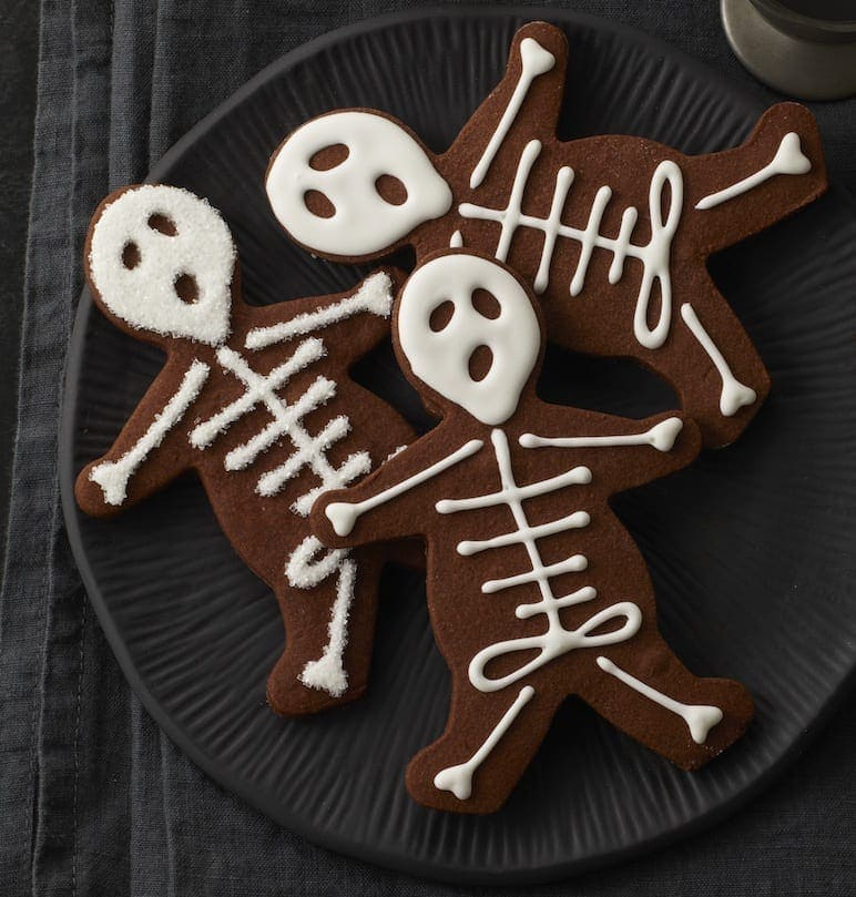 Chocolate Skeleton Cookies • With Video!