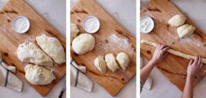 Pulla bread step by step images