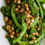 Baby Broccoli with Hazelnut butter side dish pin image