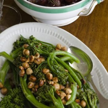 Baby Broccoli with Hazelnut Butter
