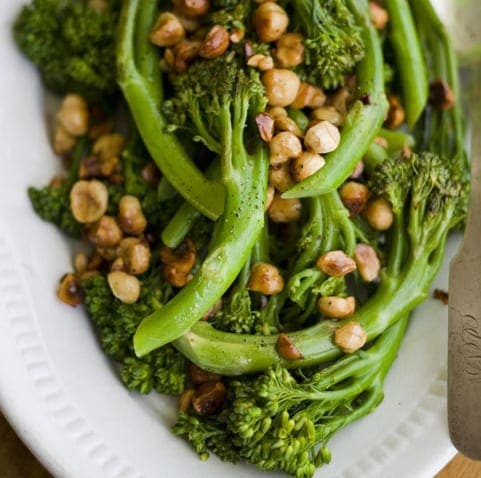 Baby Broccoli with Hazelnut Butter2