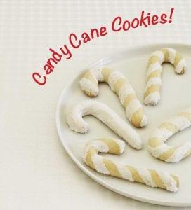 White Christmas Candy Canes with red text