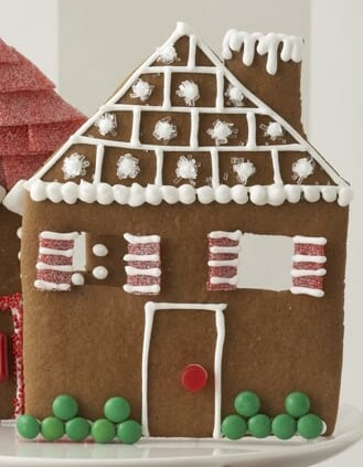 Decorated Gingerbread House Facade
