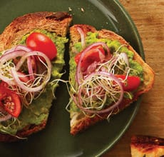 Avocado Toasts with Sprouts