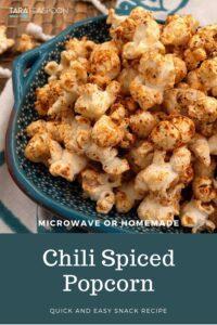 chili spiced popcorn pin close