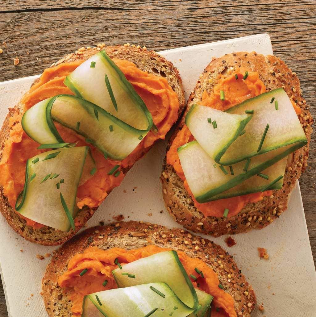 Toasts With Sweet Potato Spread