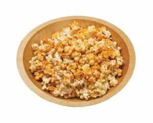 Barbecue Popcorn in wood bowl
