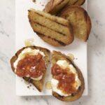 Tomato Chutney Toast with Ricotta and Honey recipe image