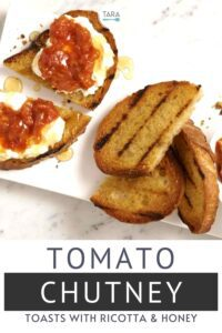 tomato chutney with ricotta and honey