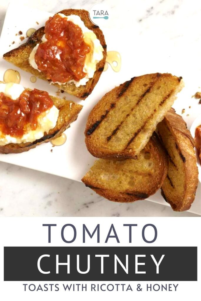 tomato chutney with ricotta and honey