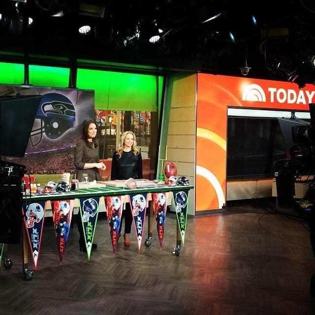 The Today Show before the Super Bowl
