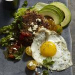 Huevos with Black Beans Hash Browns recipe image