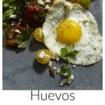 Pinterest image for Huevos With Black Bean Hash Browns with text