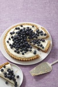 No Bake Cheesecake blueberry tart recipe image