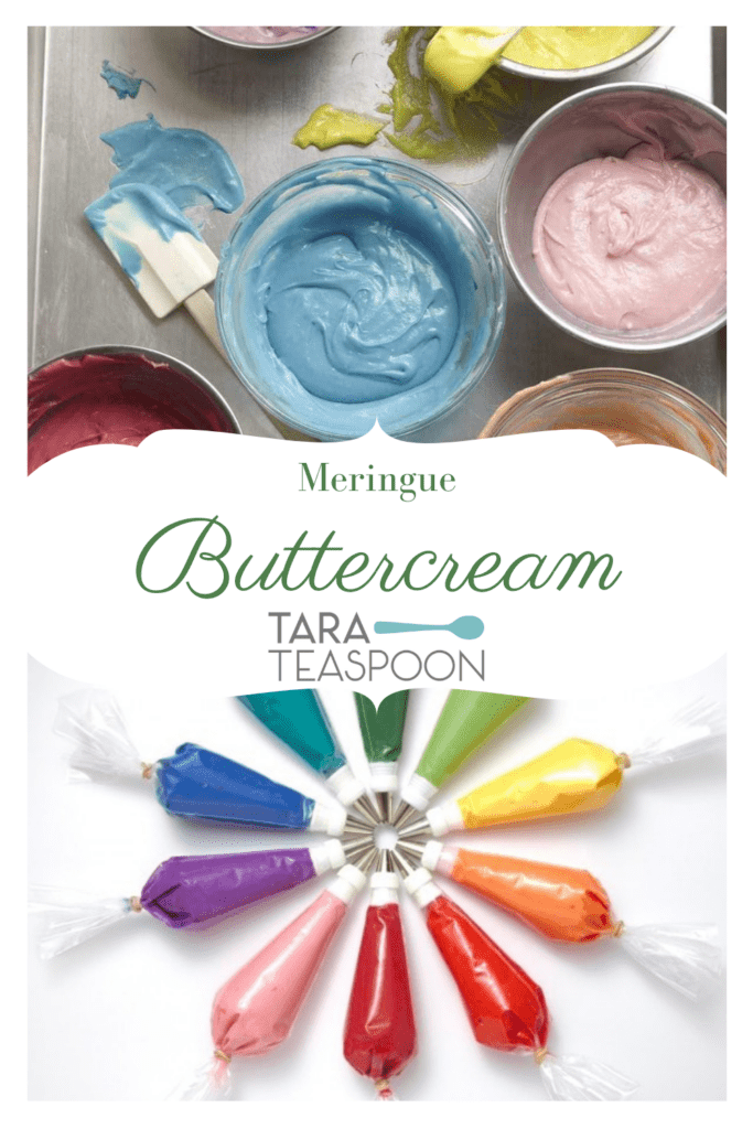 Meringue Buttercream two images title in middle pin