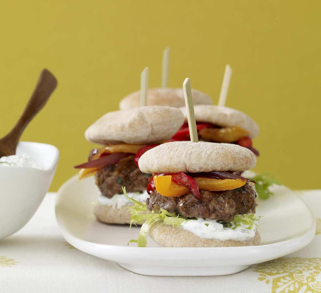Mini Greek Lamb Burgers With Yogurt Sauce