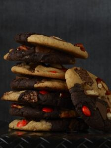 Stack of Monster Cookies