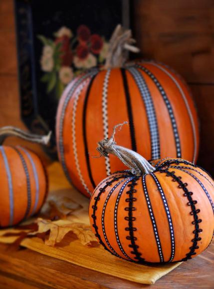 All People Quilt Ribbon Pumpkins