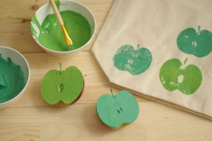 Crafty Stylish Apple Tote Bag