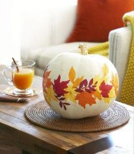 No Carve Fall Pumpkin Crafts idea